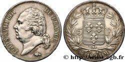 5 francs Louis XVIII, tête nue 1824 Toulouse F.309/93 AU