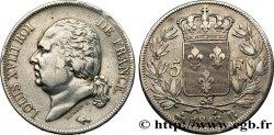 5 francs Louis XVIII, tête nue 1818 Rouen F.309/29  35