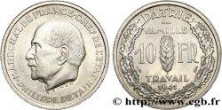 Essai de 10 francs Pétain en aluminium par Simon, poids lourd (3 g) 1941 Paris GEM.177 3 SPL  63