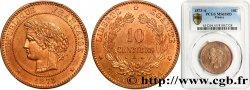 10 centimes Cérès 1873 Paris F.135/10 FDC PCGS MS65