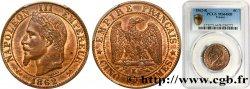 Cinq centimes Napoléon III, tête laurée 1862 Bordeaux F.117/7 MS64 PCGS