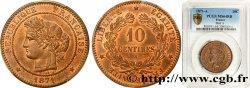 10 centimes Cérès 1871 Paris F.135/6 SPL64 PCGS