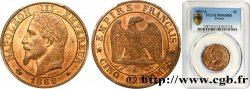 Cinq centimes Napoléon III, tête laurée 1862 Paris F.117/5 FDC65 PCGS
