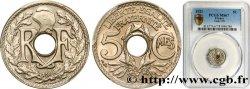 5 centimes Lindauer, petit module 1921 Paris F.122/3 FDC67 PCGS