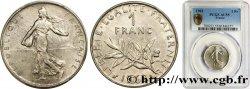 1 franc Semeuse, nickel 1962 Paris F.226/7 SUP55 PCGS