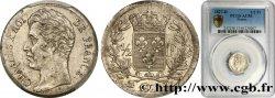 1/2 franc Charles X 1827 Lyon F.180/16 TTB53 PCGS