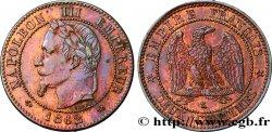 Deux centimes Napoléon III, tête laurée, buste définitif 1862 Bordeaux F.108A/7 AU55