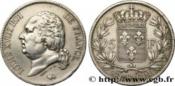 5 francs Louis XVIII, tête nue 1816 Toulouse F.309/9 TTB48