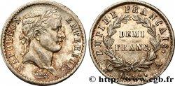 Demi-franc Napoléon Ier tête laurée, Empire français 1812 Paris F.178/36 AU55