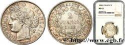 2 francs Cérès, avec légende 1888 Paris F.265/14 MS63 NGC