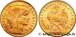 10 francs or Coq 1907 Paris F.509/8 MS60