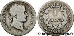 1 franc Napoléon Ier tête laurée, Empire français 1812 Rouen F.205/42 B12