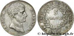 5 francs Napoléon Empereur, type intermédiaire, revers de l'An XI 1804 Perpignan F.302/11 TTB52
