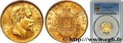 20 francs or Napoléon III, tête laurée, grand A 1862 Paris F.532/4 SUP62 PCGS
