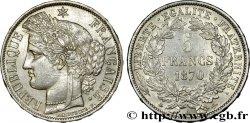 5 francs Cérès, avec légende 1870 Paris F.333/1 TTB50