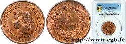 5 centimes Cérès 1882 Paris F.118/23 SPL64 PCGS