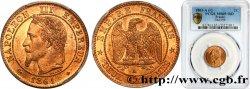 Deux centimes Napoléon III, tête laurée 1861 Paris F.108A/1 FDC65 PCGS