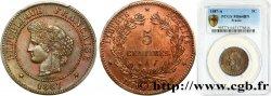 5 centimes Cérès 1887 Paris F.118/29 SPL64 PCGS