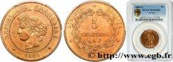 5 centimes Cérès 1889 Paris F.118/31 SPL64 PCGS