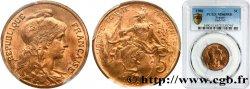 5 centimes Daniel-Dupuis 1900  F.119/9 FDC65 PCGS