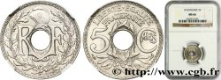 5 centimes Lindauer, grand module 1918 Paris F.121/2 FDC66 NGC