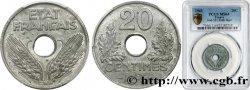 20 centimes État français, légère 1943  F.153A/1 SPL64 PCGS