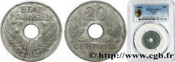 20 centimes État français 1944  F.153A/2 MS63 PCGS