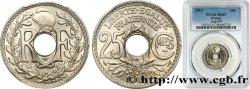 25 centimes Lindauer, Cmes souligné 1915  F.170/3 MS67 PCGS