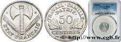 50 centimes Francisque, légère 1944 Castelsarrasin F.196/5 SPL64 PCGS