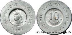 Essai de 10 centimes Rude en aluminium 1909 Paris GEM.35 5 SUP60
