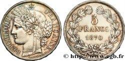 5 francs Cérès, sans légende 1870 Paris F.332/1 SUP62