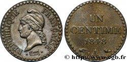 Un centime Dupré, IIe République 1848 Paris F.101/1 SS48