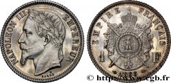 Essai de 1 franc Napoléon III, tête laurée par Barre 1866 Paris VG.3690 SPL64