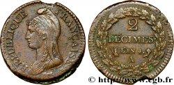2 décimes Dupré 1796 Paris F.145/1 XF45