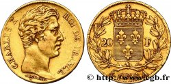 20 francs or Charles X 1825 Paris F.520/1 XF40