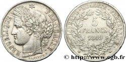 5 francs Cérès, IIe République 1849 Strasbourg F.327/3 TTB45