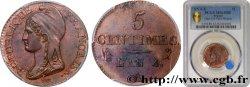 5 centimes Dupré, petit module 1796 Paris F.113/1 SPL63 PCGS