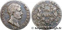 Demi-franc Napoléon Empereur, Calendrier révolutionnaire 1805 Paris F.174/10 TB25