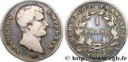 1 franc Napoléon Empereur, Calendrier grégorien 1806 Paris F.202/1 TB20