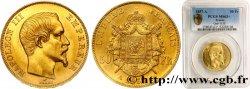50 francs or Napoléon III, tête nue 1857 Paris F.547/4 SPL63 PCGS