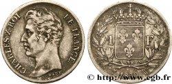 1 franc Charles X, matrice du revers à quatre feuilles 1830 Lille F.207A/31 BB40