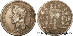 5 francs Charles X, 1er type 1826 Lyon F.310/18 TB