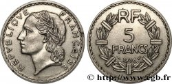 5 francs Lavrillier, nickel 1936  F.336/5