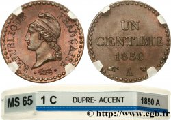 Un centime Dupré, IIe République 1850 Paris F.101/5