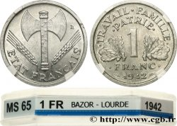 1 franc Francisque, lourde 1942 Paris F.222/2