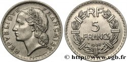 5 francs Lavrillier, nickel 1938  F.336/7