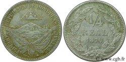 HONDURAS 1/4 Real 1870 Paris - A AU