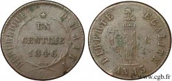 HAITI 1 Centime faisceau, an 43 1846  BC+