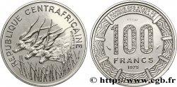 """CENTRAFRIQUE Essai de 100 Francs antilopes type """"BEAC"""" 1975 Paris SPL"""