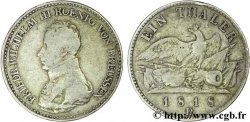 GERMANY - PRUSSIA 1 Thaler Frédéric-Guillaume III roi de Prusse / aigle 1818 Düsseldorf - D VF